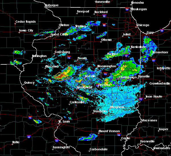Radar Image for Severe Thunderstorms near Kilbourne, IL at 9/10/2015 4:45 PM CDT