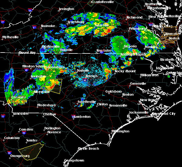 Radar Image for Severe Thunderstorms near Staley, NC at 9/10/2015 7:35 PM EDT