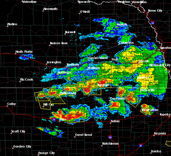 Radar Image for Severe Thunderstorms near Mankato, KS at 9/10/2015 6:44 PM CDT