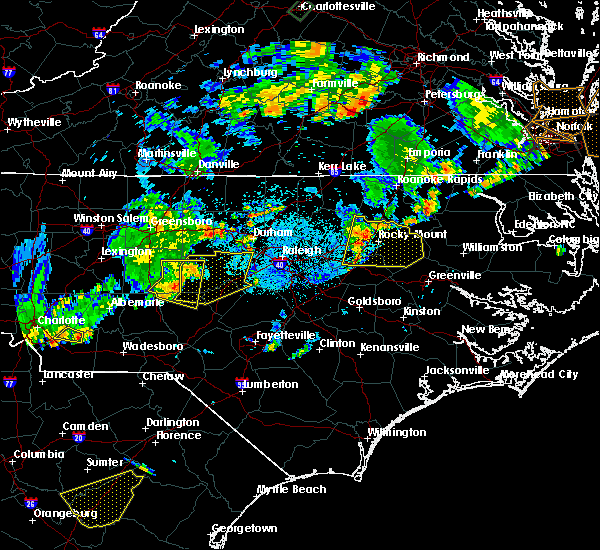 Radar Image for Severe Thunderstorms near Sanford, NC at 9/10/2015 7:44 PM EDT