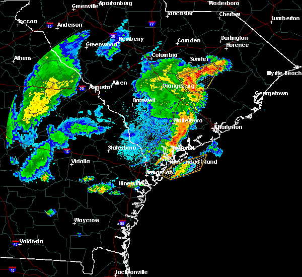 Radar Image for Severe Thunderstorms near Kiawah Island, SC at 9/10/2015 7:57 PM EDT