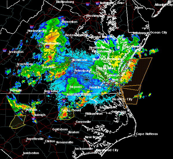 Radar Image for Severe Thunderstorms near Oak City, NC at 9/10/2015 8:16 PM EDT