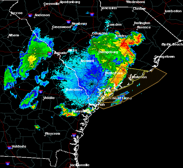 Radar Image for Severe Thunderstorms near Edisto Beach, SC at 9/10/2015 8:16 PM EDT
