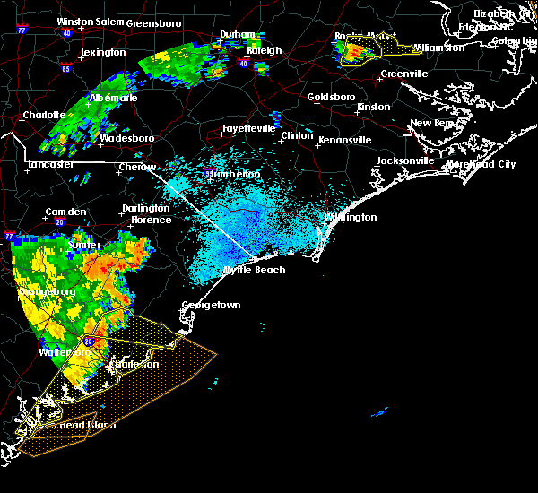 Radar Image for Severe Thunderstorms near Moncks Corner, SC at 9/10/2015 8:26 PM EDT