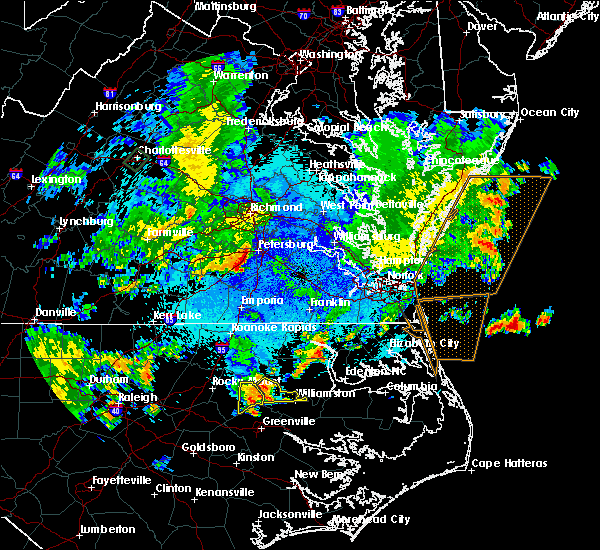 Radar Image for Severe Thunderstorms near Hamilton, NC at 9/10/2015 8:44 PM EDT