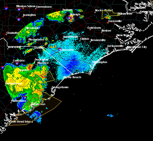 Radar Image for Severe Thunderstorms near Murrells Inlet, SC at 9/10/2015 8:51 PM EDT