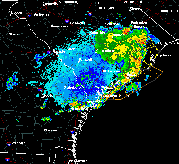 Radar Image for Severe Thunderstorms near Kiawah Island, SC at 9/10/2015 8:55 PM EDT