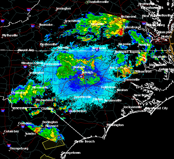 Radar Image for Severe Thunderstorms near Princeville, NC at 9/10/2015 8:57 PM EDT