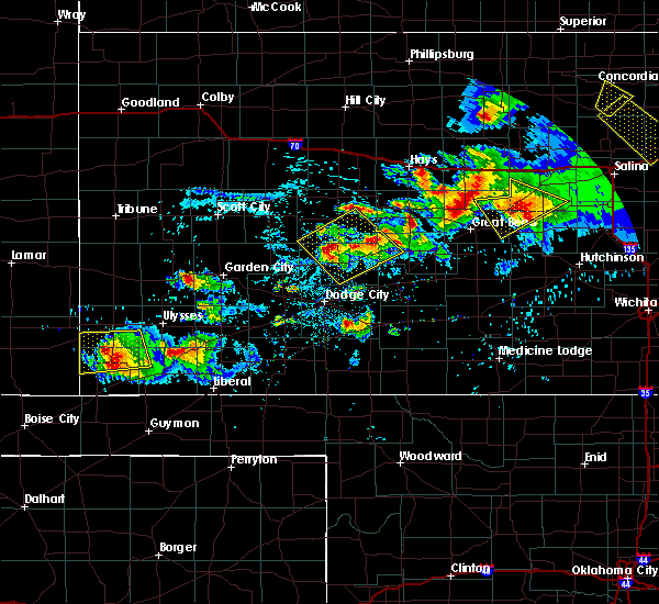 Radar Image for Severe Thunderstorms near Moscow, KS at 9/10/2015 8:04 PM CDT