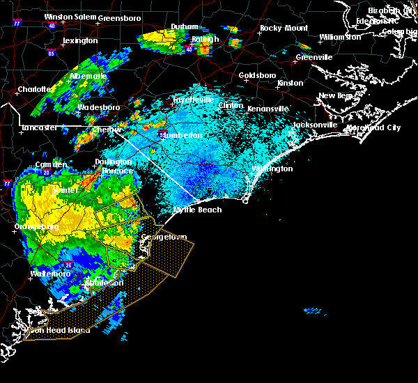 Radar Image for Severe Thunderstorms near Hemingway, SC at 9/10/2015 9:07 PM EDT