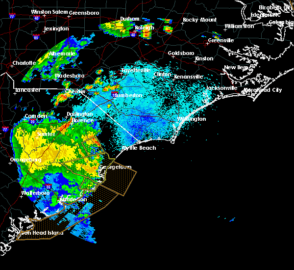 Radar Image for Severe Thunderstorms near Murrells Inlet, SC at 9/10/2015 9:16 PM EDT