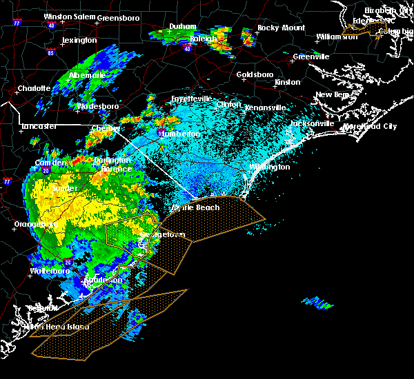Radar Image for Severe Thunderstorms near Bucksport, SC at 9/10/2015 9:32 PM EDT