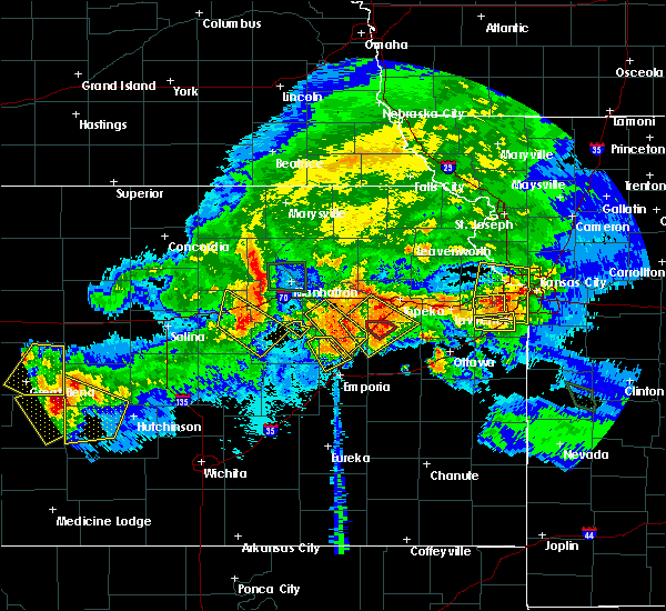 Radar Image for Severe Thunderstorms near Allen, KS at 9/10/2015 8:48 PM CDT
