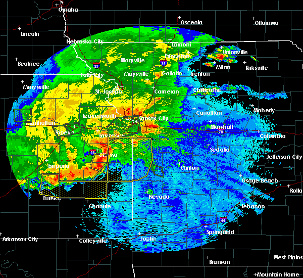 Radar Image for Severe Thunderstorms near Adrian, MO at 9/10/2015 10:09 PM CDT