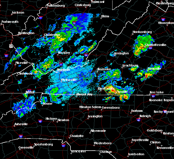 Radar Image for Severe Thunderstorms near Blairs, VA at 9/12/2015 3:50 AM EDT