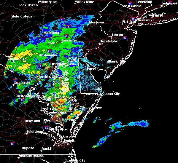 Radar Image for Severe Thunderstorms near Lexington Park, MD at 9/12/2015 10:48 AM EDT