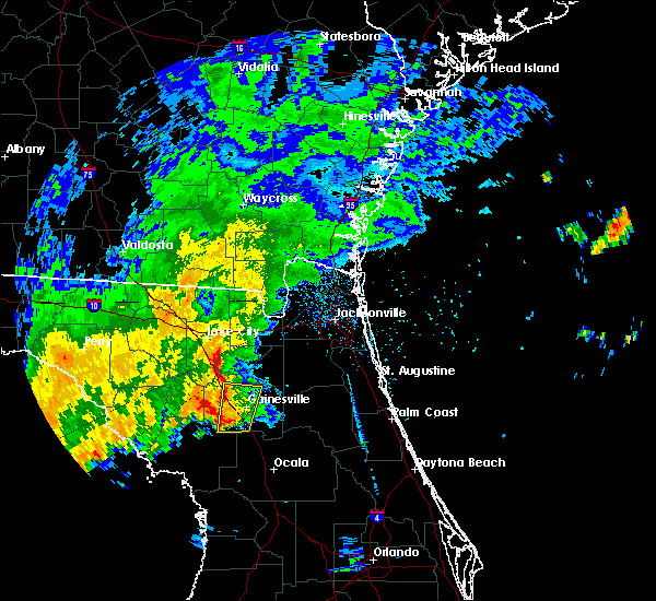 Radar Image for Severe Thunderstorms near Gainesville, FL at 9/12/2015 1:07 PM EDT