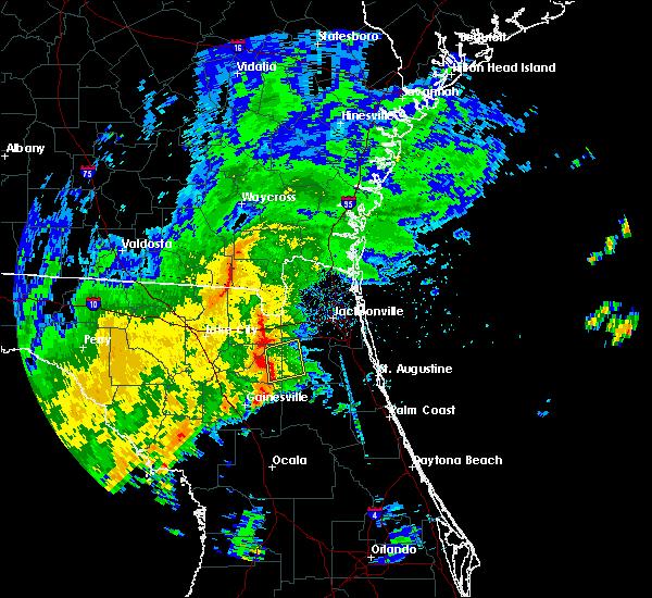 Radar Image for Severe Thunderstorms near Lawtey, FL at 9/12/2015 1:45 PM EDT
