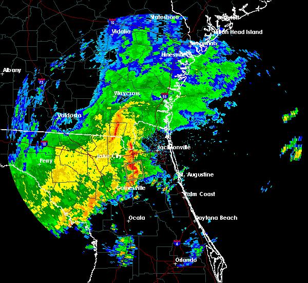 Radar Image for Severe Thunderstorms near Middleburg, FL at 9/12/2015 1:55 PM EDT