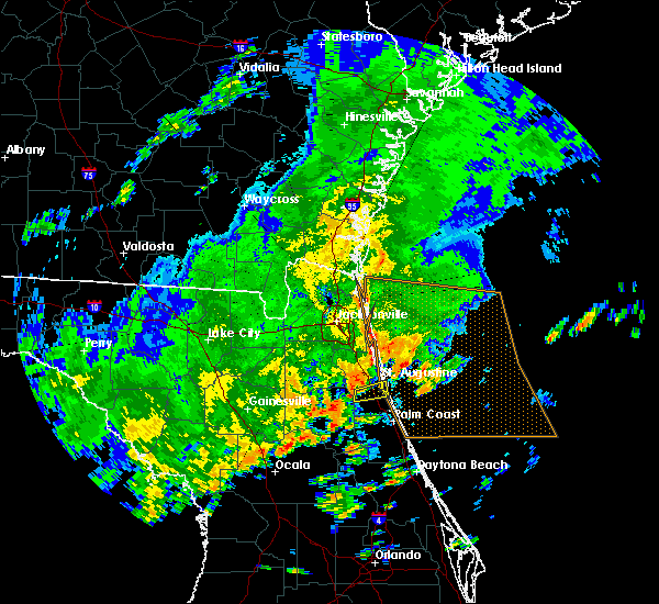 Radar Image for Severe Thunderstorms near St. Augustine South, FL at 9/12/2015 3:02 PM EDT