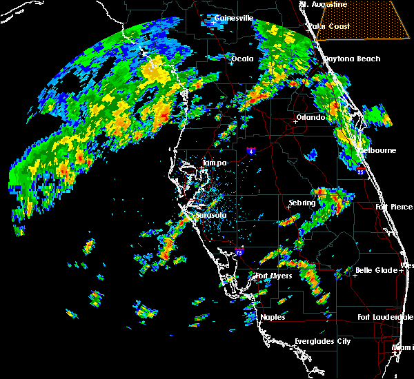 Radar Image for Severe Thunderstorms near Floral City, FL at 9/12/2015 5:10 PM EDT