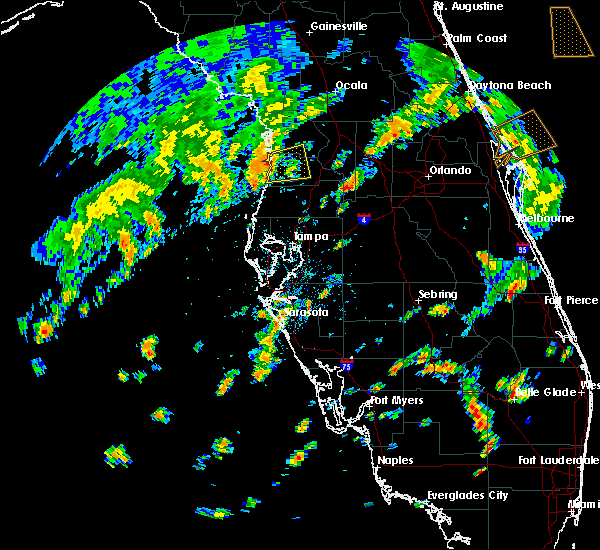 Radar Image for Severe Thunderstorms near Floral City, FL at 9/12/2015 5:37 PM EDT