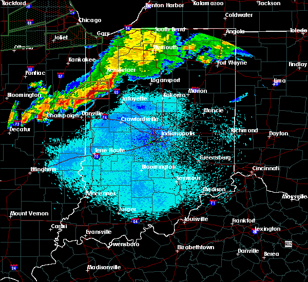 Radar Image for Severe Thunderstorms near Otterbein, IN at 9/18/2015 10:02 PM EDT