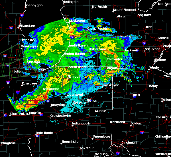 Radar Image for Severe Thunderstorms near Monon, IN at 9/18/2015 10:05 PM EDT