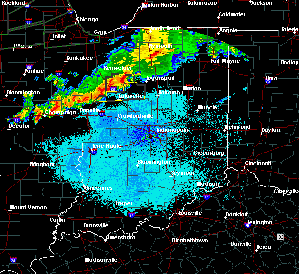 Radar Image for Severe Thunderstorms near Otterbein, IN at 9/18/2015 10:23 PM EDT