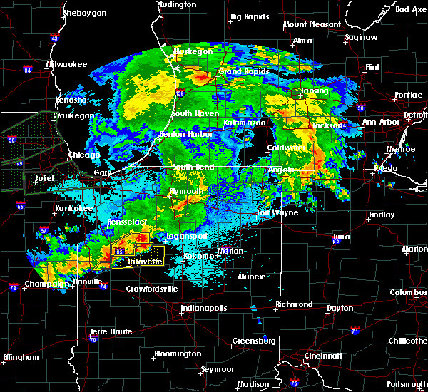 Radar Image for Severe Thunderstorms near Onward, IN at 9/18/2015 10:34 PM EDT
