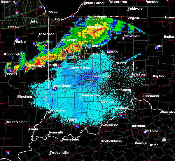 Radar Image for Severe Thunderstorms near Otterbein, IN at 9/18/2015 10:44 PM EDT