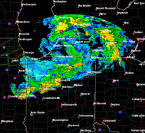 Radar Image for Severe Thunderstorms near Onward, IN at 9/18/2015 11:02 PM EDT