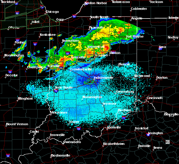 Radar Image for Severe Thunderstorms near Camden, IN at 9/18/2015 11:44 PM EDT
