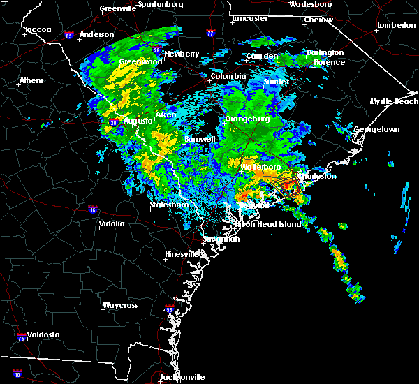 Radar Image for Severe Thunderstorms near Ravenel, SC at 9/25/2015 12:48 AM EDT