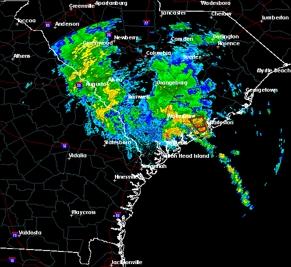 Radar Image for Severe Thunderstorms near Ravenel, SC at 9/25/2015 12:55 AM EDT