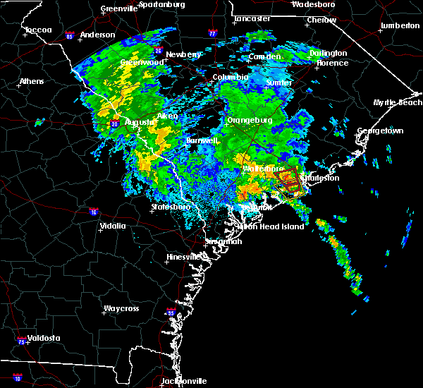 Radar Image for Severe Thunderstorms near Ravenel, SC at 9/25/2015 1:00 AM EDT