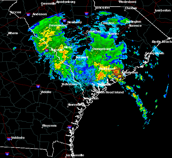Radar Image for Severe Thunderstorms near North Charleston, SC at 9/25/2015 1:09 AM EDT