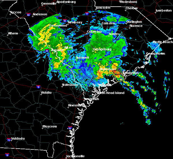 Radar Image for Severe Thunderstorms near North Charleston, SC at 9/25/2015 1:29 AM EDT