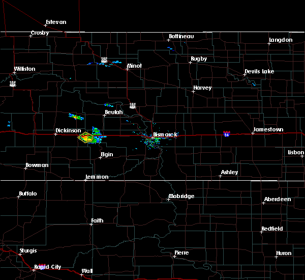 Radar Image for Severe Thunderstorms near Hebron, ND at 9/30/2015 6:18 PM MDT