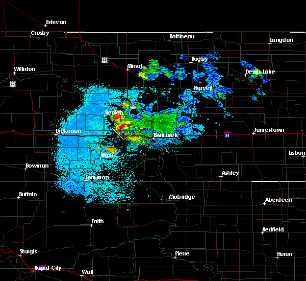 Radar Image for Severe Thunderstorms near New Salem, ND at 10/1/2015 3:21 AM CDT