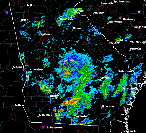 Radar Image for Severe Thunderstorms near Robins AFB, GA at 10/1/2015 8:43 PM EDT