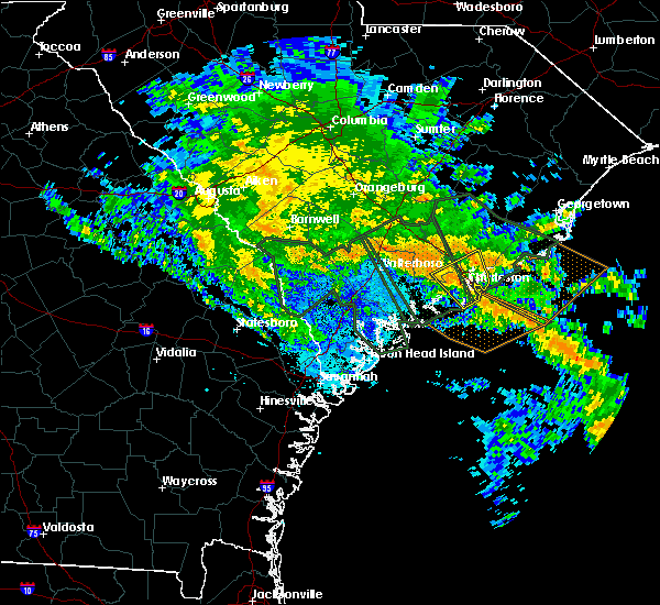 Radar Image for Severe Thunderstorms near Kiawah Island, SC at 10/3/2015 9:12 PM EDT