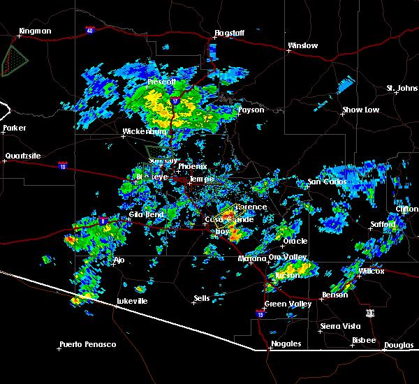 Radar Image for Severe Thunderstorms near Florence, AZ at 10/6/2015 3:39 PM MST