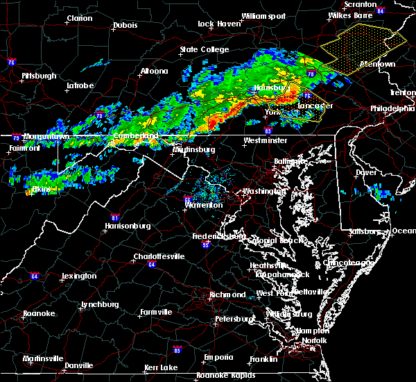 Radar Image for Severe Thunderstorms near Hanover, PA at 10/9/2015 3:53 PM EDT