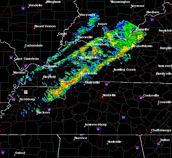 Radar Image for Severe Thunderstorms near Clarksville, TN at 10/12/2015 6:03 PM CDT