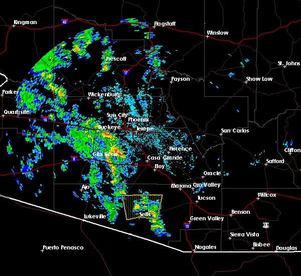 Radar Image for Severe Thunderstorms near Ak-Chin Village, AZ at 10/16/2015 1:48 PM MST
