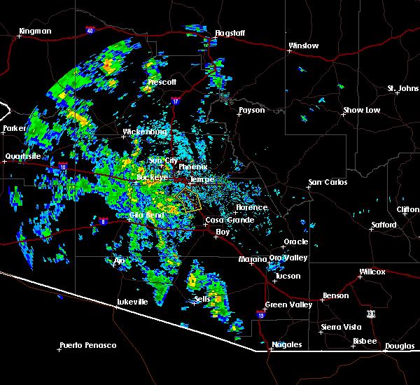 Radar Image for Severe Thunderstorms near Maricopa, AZ at 10/16/2015 2:08 PM MST