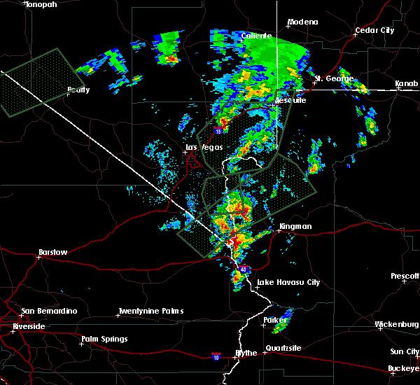 Radar Image for Severe Thunderstorms near Dolan Springs, AZ at 10/18/2015 7:32 PM MST