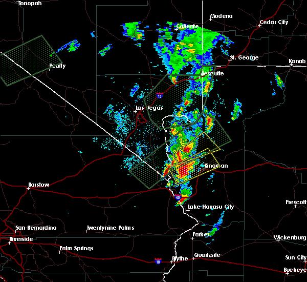 Radar Image for Severe Thunderstorms near Dolan Springs, AZ at 10/18/2015 7:56 PM MST