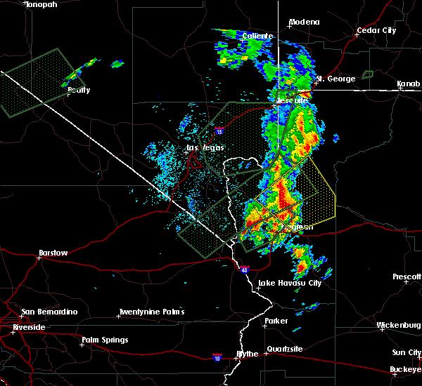Radar Image for Severe Thunderstorms near Truxton, AZ at 10/18/2015 8:51 PM MST